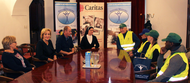 Humanity First i Caritas na događaju